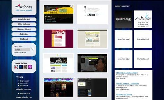 mi web css – galería de páginas web en español.