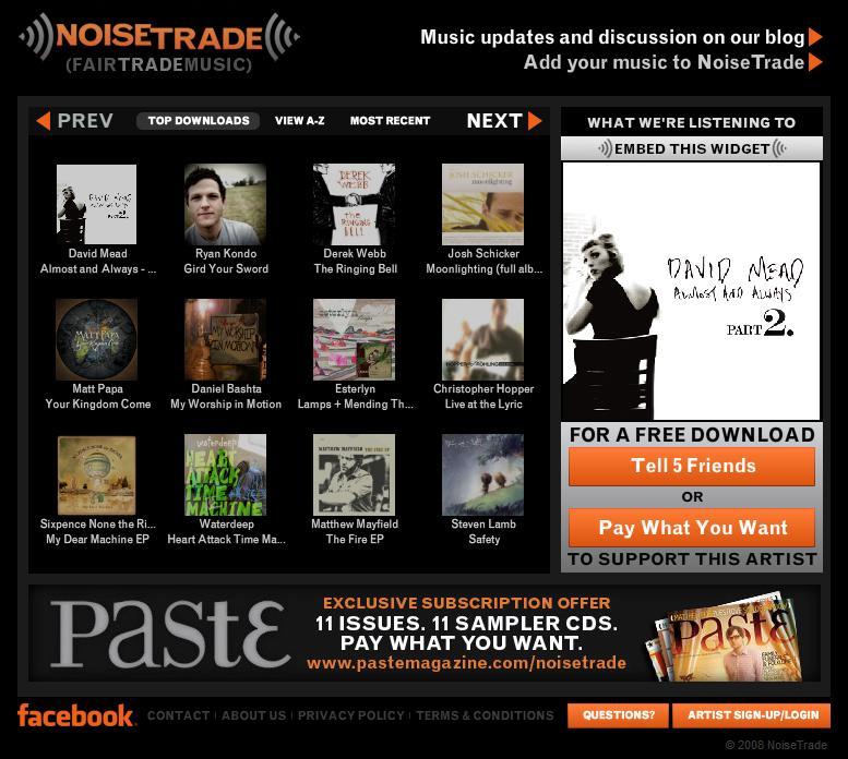 Descubre nueva música con NoiseTrade.