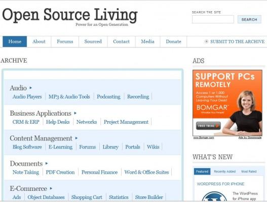 Directorio de software de código abierto.