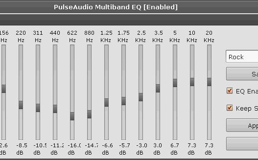 Ecualizador para PulseAudio