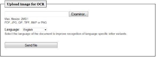 OCR en linea – Reconocer texto de una imagen o escaneado.