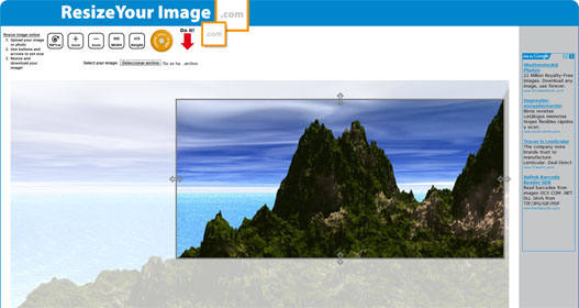 recortar y redimensionar imagen