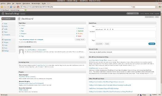 servidor web con wordpress