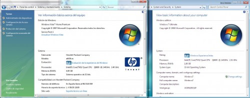 Sistema en Windows Vista Y Windows 7