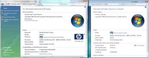 Sistema en Windows Vista Y Windows 7