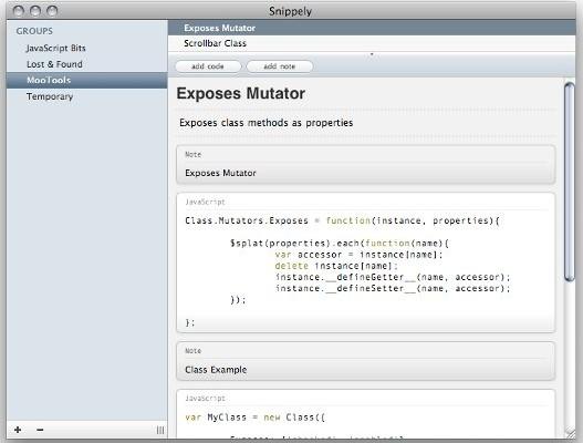 Organiza las funciones usadas en tus aplicaciones.