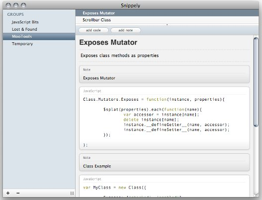 snippely - organizar código