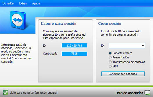 Acceso remoto con TeamViewer