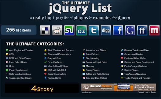 Tutoriales y ejemplos de jQuery.