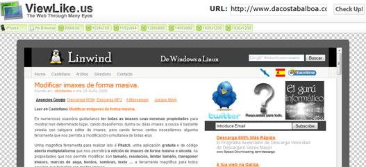 Visualizar una página web en distintas resoluciones