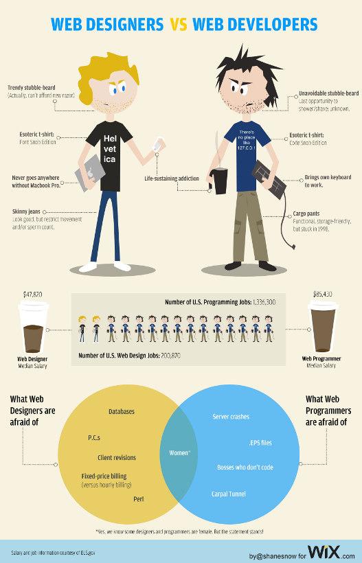 web designers vs developers