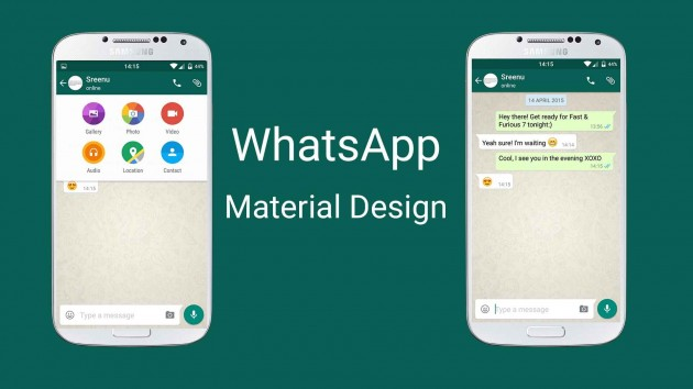 whatsapp con material design