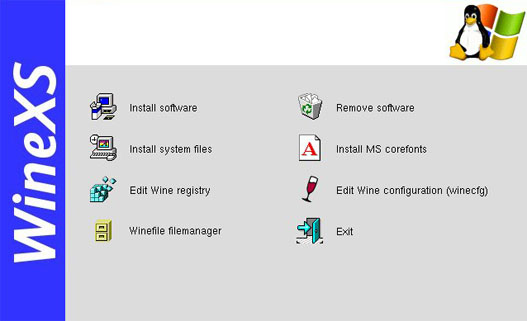 WineXS, entorno gráfico para configurar Wine