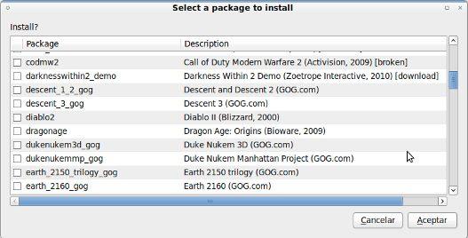 Instalar juegos en GNU/Linux con wisotool