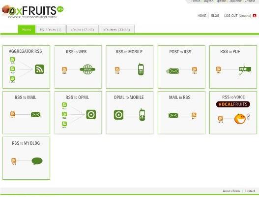 xFruits – Unir, combinar y convertir nuestros feed con otros formatos.