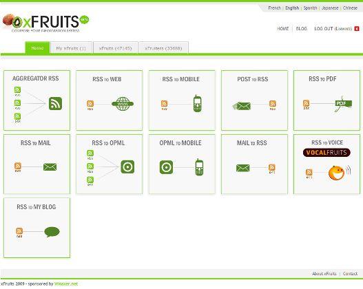 xFruits - Unir, combinar y convertir nuestros feed con otros formatos