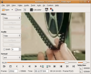 avidemux redimensionar filtrar codificar video audio