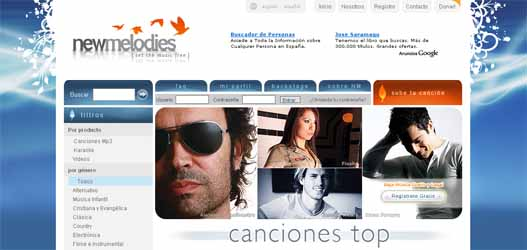 Descargar música gratis y legal. ''Newmelodies''